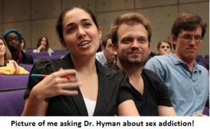 me asking Dr. Hyman a question
