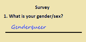 Inclusive survey question